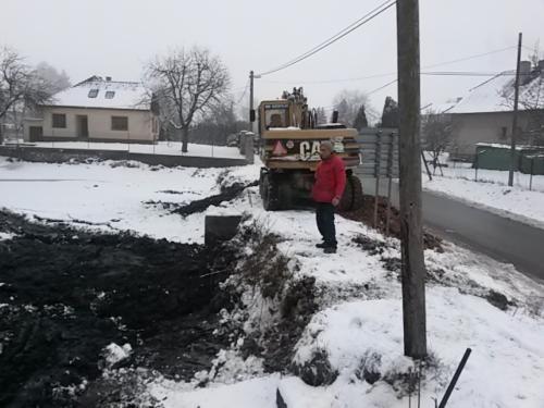 Zemní práce - Bagrování rybníka