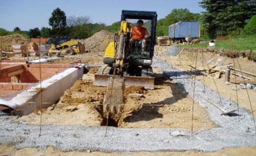 Zemní práce - Bagrování základů